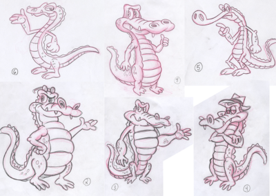 Gator Design Sketches