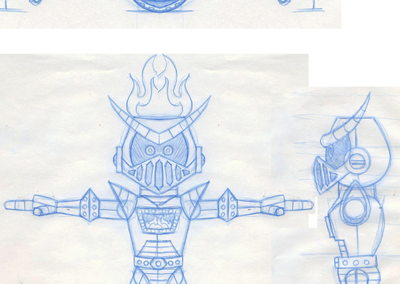 Fire Knight Sketches